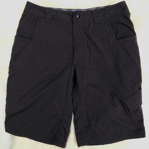 Lululemon Black Cargo Shorts Wet Dry Warm Men's 34